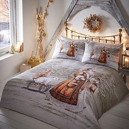Festive Polyester Cotton Blend Duvet Cover Bedding Set - ...