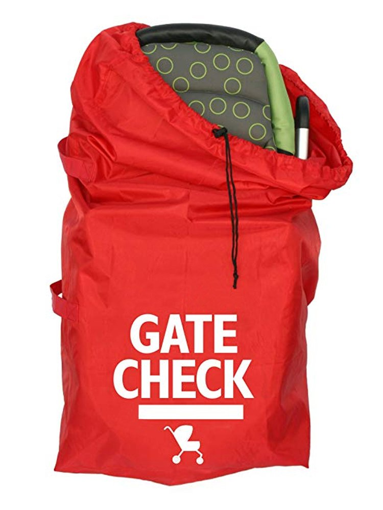 Gate Check Travel Bag with Webbing Handle for Standard and Double Strollers, Red #81559