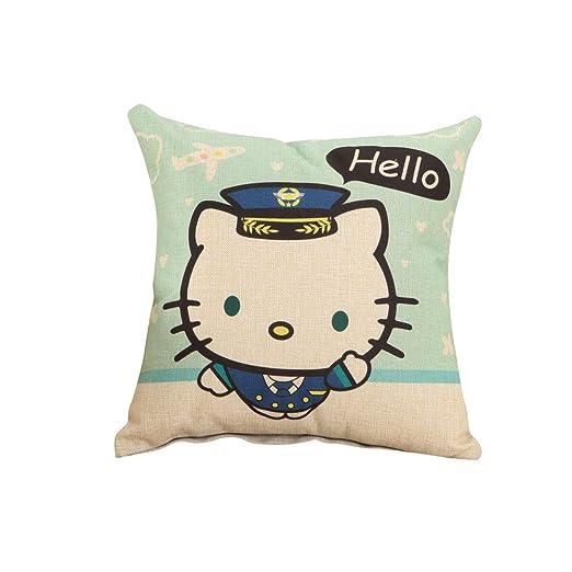 Funda de cojín Hunterace Sábana de algodón Hello Kitty Funda ...