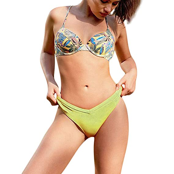 Bikini Natacion Mujer Deportivo, Bikini Mujer 2018 Push Up Tanga, Impresa Traje De BañO De La Mujer De 2 Pieza, Push Up Bikini Floral: Amazon.es: Ropa y ...