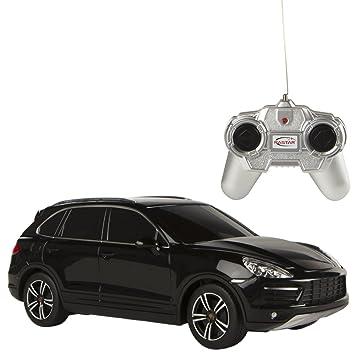 RASTAR -Porsche Cayenne Turbo, Coche teledirigido, Escala 1:24, Color Negro (ColorBaby 85040): Amazon.es: Juguetes y juegos