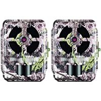 Primos 12MP Proof Cam (63055) 02 HD Trail Camera with Low Glow LEDs, Ground SWAT Camo - Set of 2