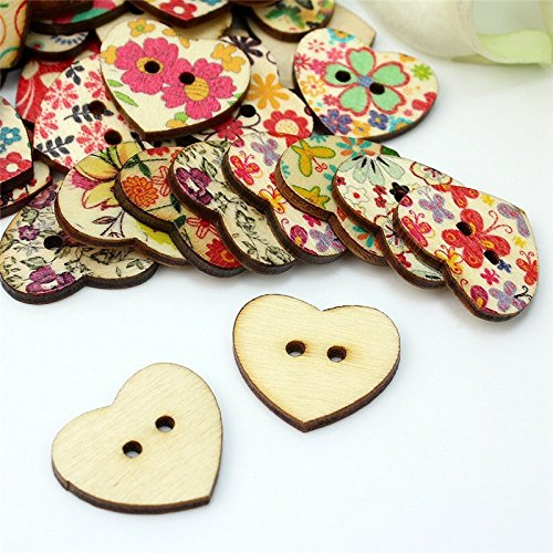 100Pcs//lot Da.Wa Colorful Rose Shaped Buttons Scrapbooking for Costume Decor Sewing Accessories