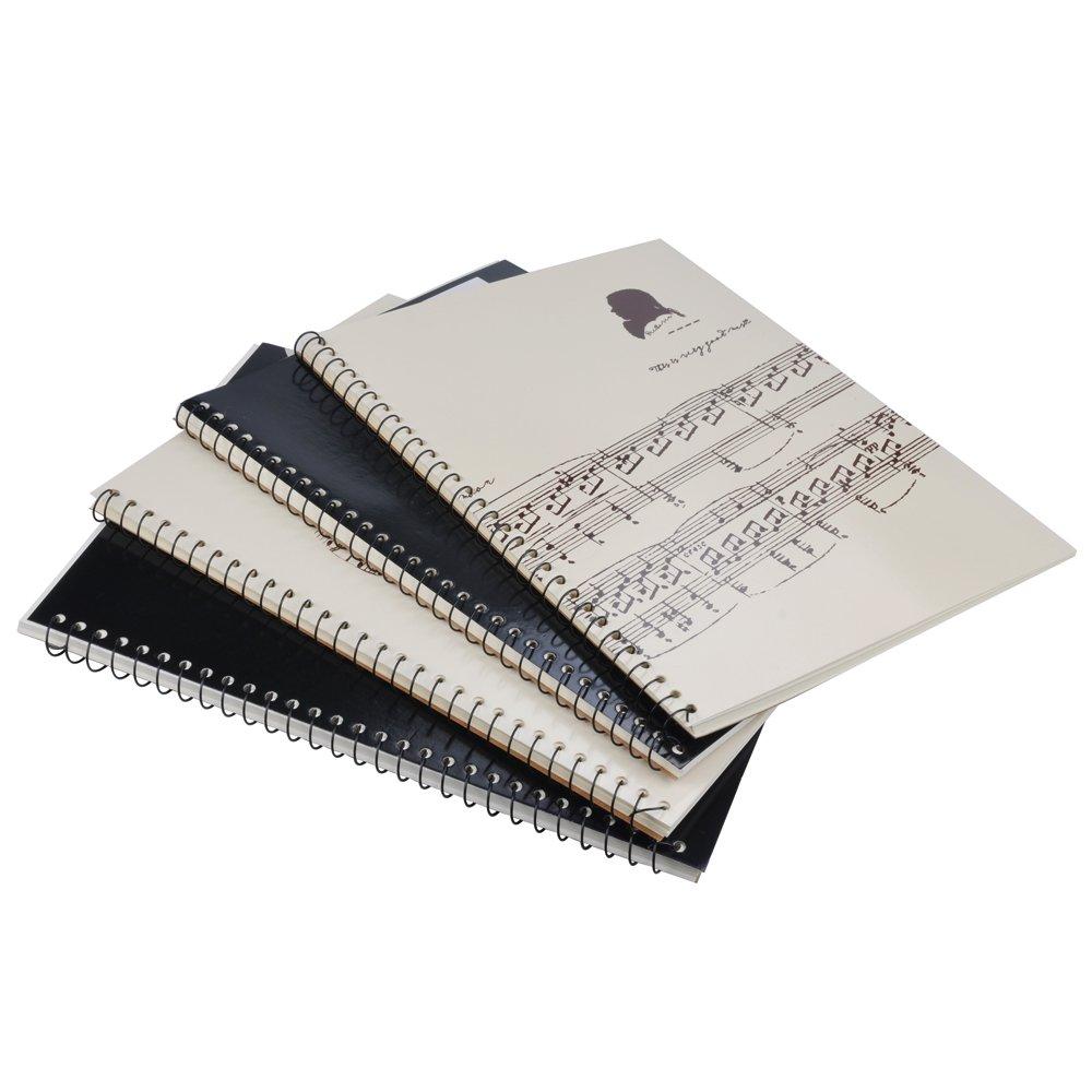 Punk Music Manuscript Paper con 40pagine bianche musica spartito notebook Music Sheet White HLMP03