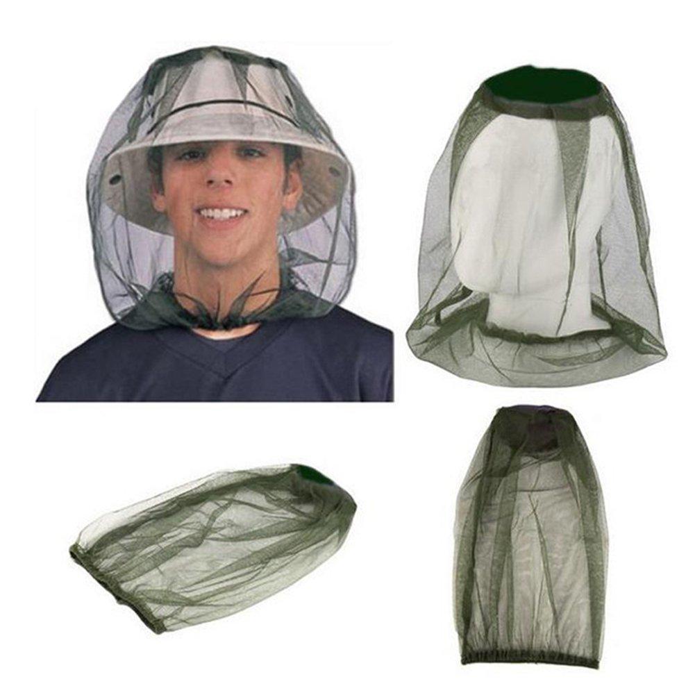 FAVOLOOK Mosquitera para cabeza de mosquito, malla protectora antimosquitos, mosquitos, insectos, moscas y moscas con escudo de insectos