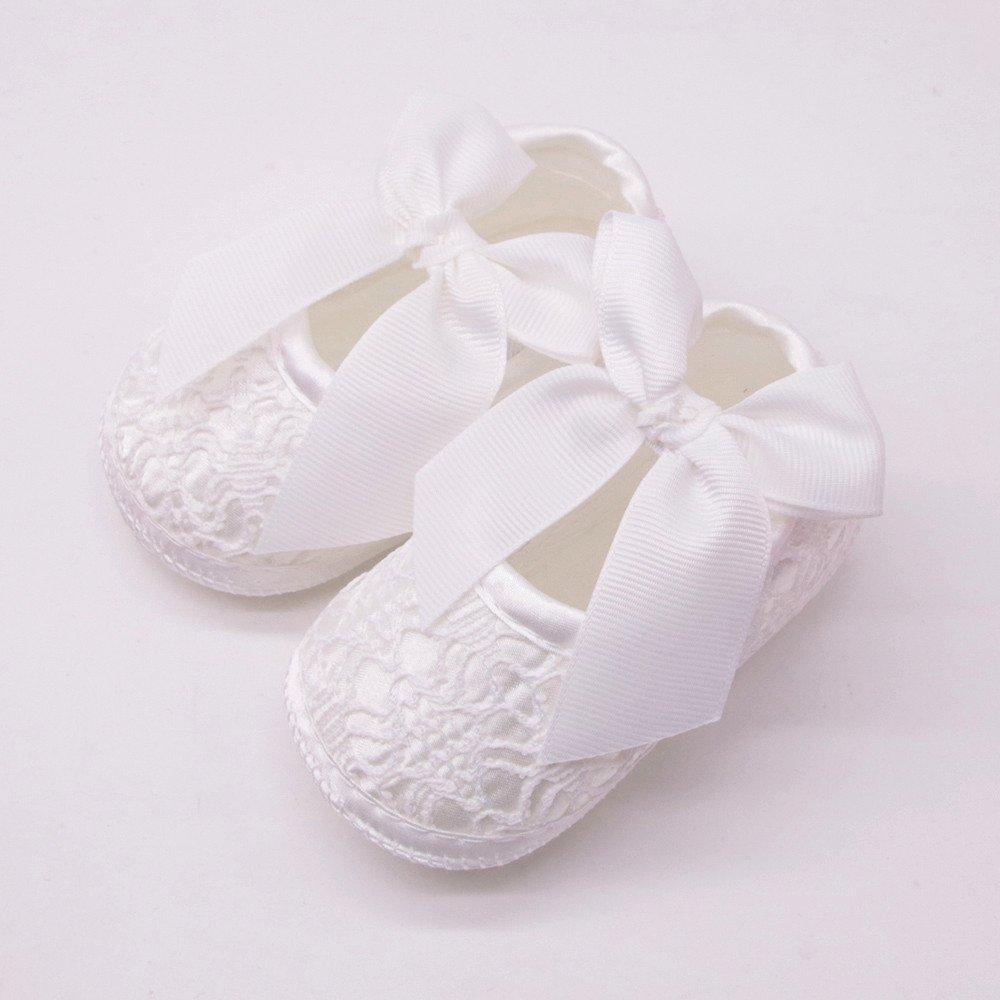 YanHooBebé Prewalker Zapatos YanHoo Primeros Pasos para bebé-niñas Zapatos de Flores de Encaje Sandalias de Bowknot para Zapatos de Cuna para Bebés recién ...