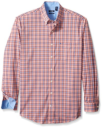 IZOD Men's Big and Tall Advantage Performance Stretch Long Sleeve Shirt, Tawny Orange, 2X-Large Tall by IZOD