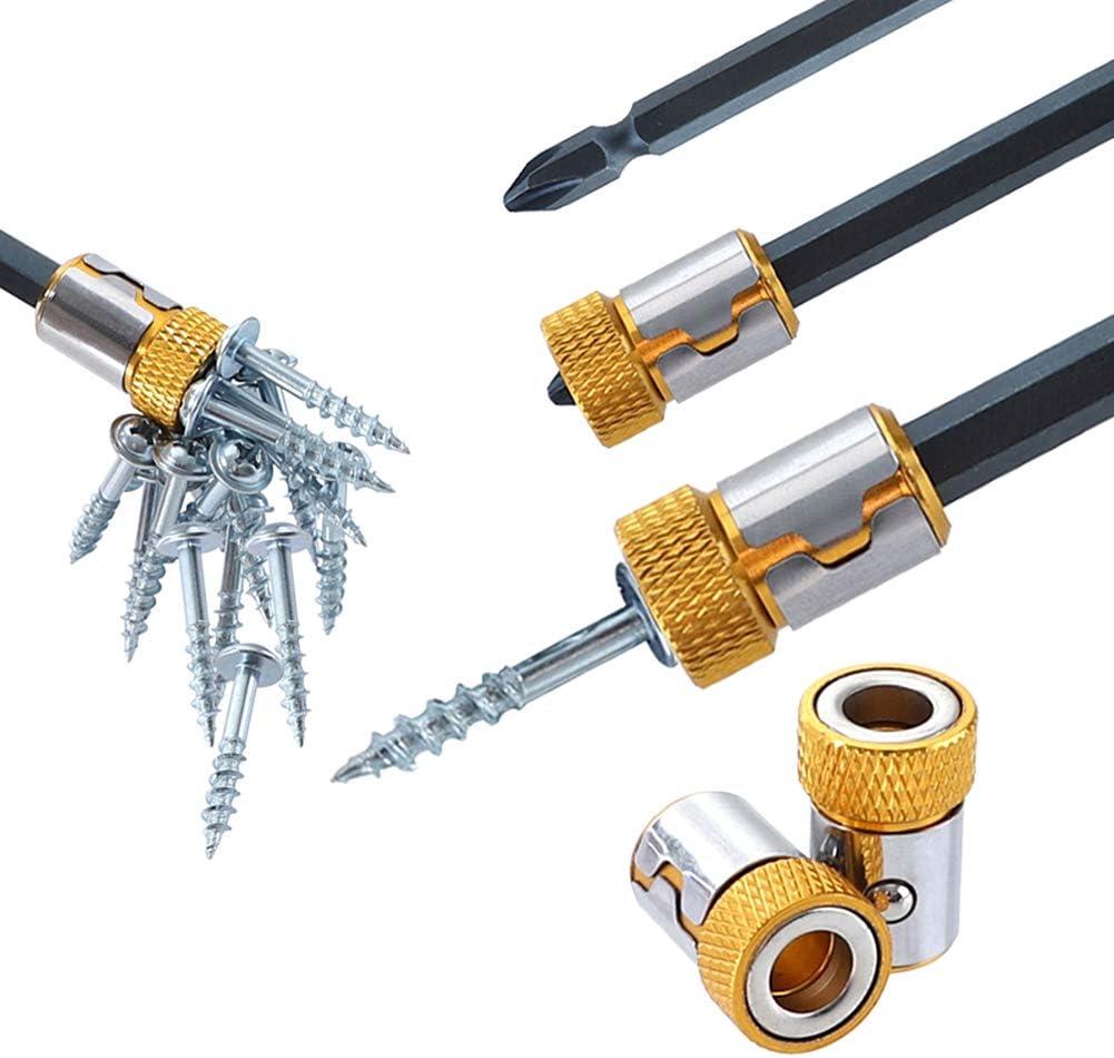 5pcs Bit Magnetizer Ring Removable For 1/4
