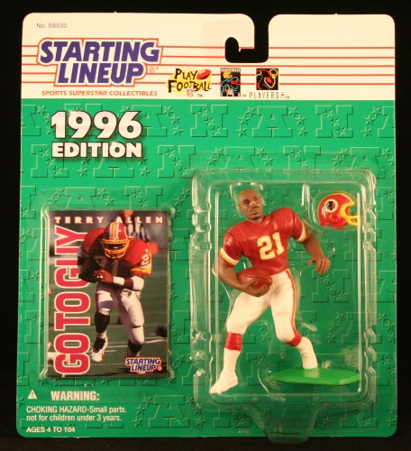 Allen Eagles - TERRY ALLEN / WASHINGTON REDSKINS 1996 NFL Starting Lineup Action Figure & Exclusive NFL Collector Trading Card