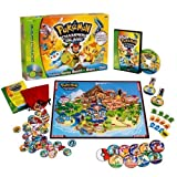 Includes: Champion Island Game Board, Dvd With Game Content, 4 Player Pawns, 60 Wild Pokemon Disks With Storage Pouch - Pokemon™ Champion Island DVD Board Game