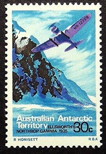 Ellsworth's Northrop Gamma 1935 Aircraft -Handmade Framed Postage Stamp Art 17133AM