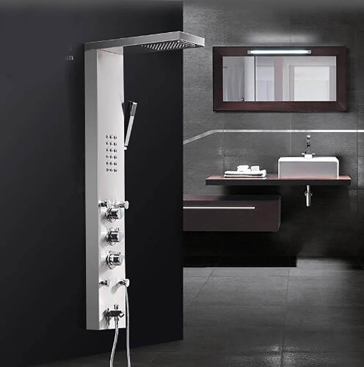 Shower System Cascada Ducha de Lluvia Grifos Níquel Cepillado ...