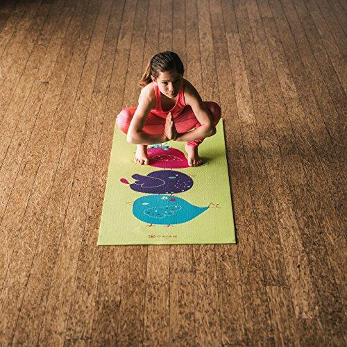 Gaiam Kids Yoga Mat Exercise Mat, Yoga for Kids with Fun