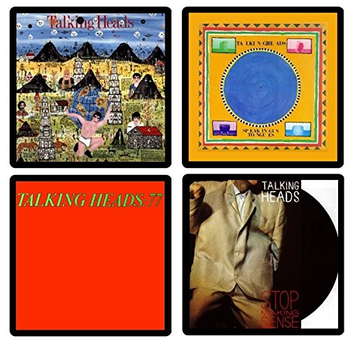 Talking Heads - Collectible Coaster Gift Set #1 ~ (4) Different Album Covers Reproduced on Soft Pliable Coasters