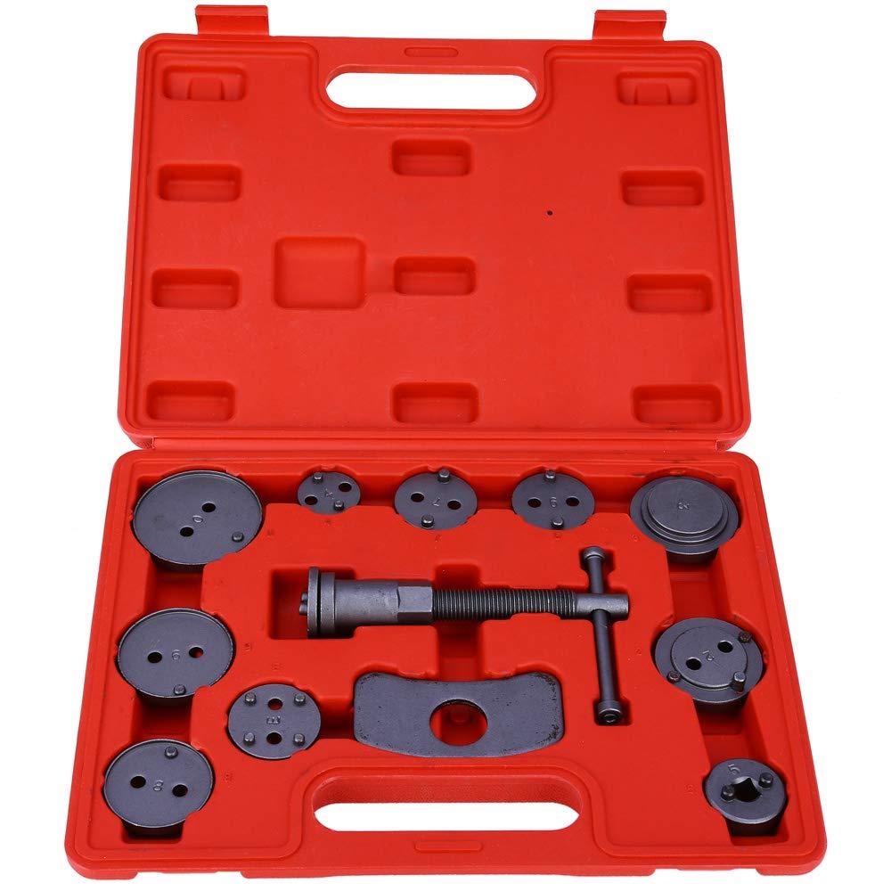 12 Pieces Universal Auto Car Precision Disc Brake Caliper Wind Back Tool Kit Brake Pad Brake Pump Brake Piston Car Repair Tool Kit