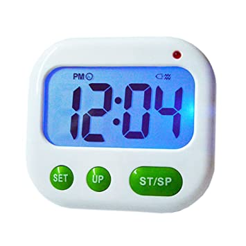 LRZCGB Digital Kitchen Timer With Clip Multi Function Electronic Timer  Silent Vibration Alarm Students Luminous