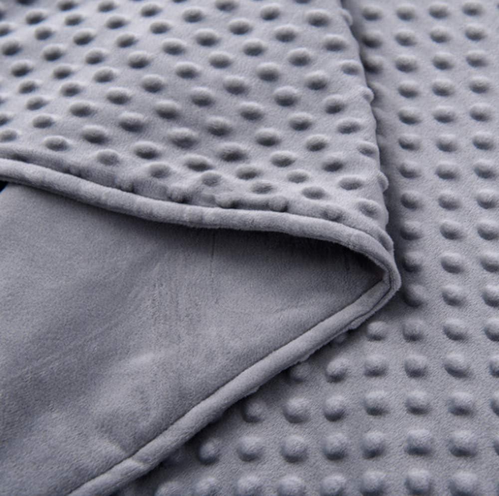 Polaire Corail Super Doux Et Sensitive Minky Dots Couverture Pond/ér/ée Couverture Amovible pour Enfants Et Adultes Couverture De Jet De Canap/é,Gris,36/×48in