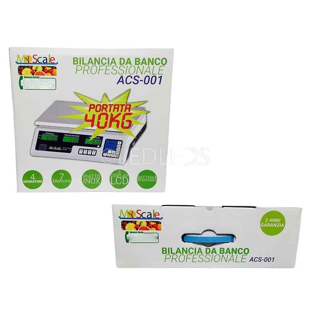 BILANCIA ELETTRONICA DIGITALE PROFESSIONALE MAX 40 KG PIATTO ACCIAIO INOX 2 GR