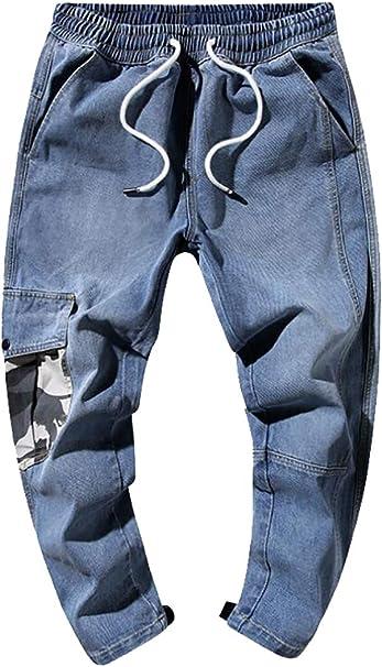 Esast - Pantalones de chándal para Hombre (algodón, Ajustados ...