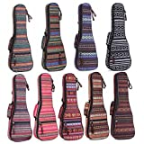 HOT SEAL 10MM Fashion Durable Adjustable Ethnic Ukulele Case Bag Bohemia style ukulele cover (23/24 in, Bohemia NO.5)