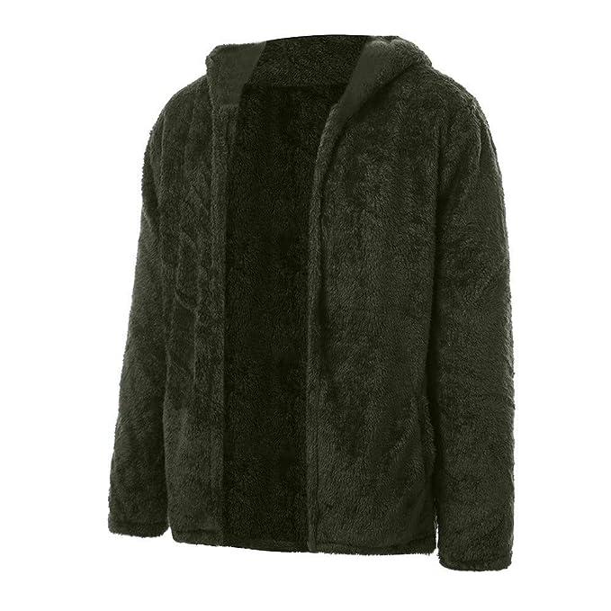FRAUIT Herren doppelseitige Plüsch Mantel Männer Winterjacke Mode  Wunderschön Design Warm Atmungsaktiv Bequem Streetwear Freizeit Tanzparty 001920ab31