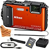 Nikon Coolpix AW130 Shock & Waterproof GPS Digital Camera (VNA842E1) w/ Super Savings Gentle Microfiber Cloth
