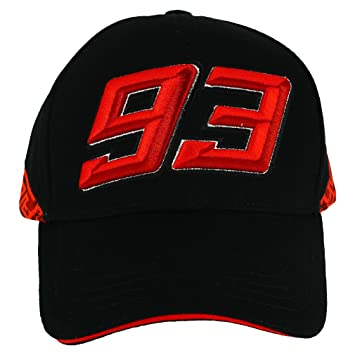 Marc Marquez 93 Moto GP Red Design Black Baseball Cap Official 2018 ... 11202a83253e