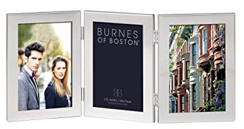burnes of boston c53346 triple hnged picture frame 4 inch by 6 inch