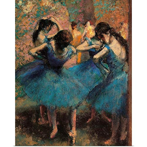 GREATBIGCANVAS Poster Print Entitled Dancers in Blue (Danseuses bleues), by Edgar Degas, ca. 1893. Musee D'Orsay by Edgar Degas ()