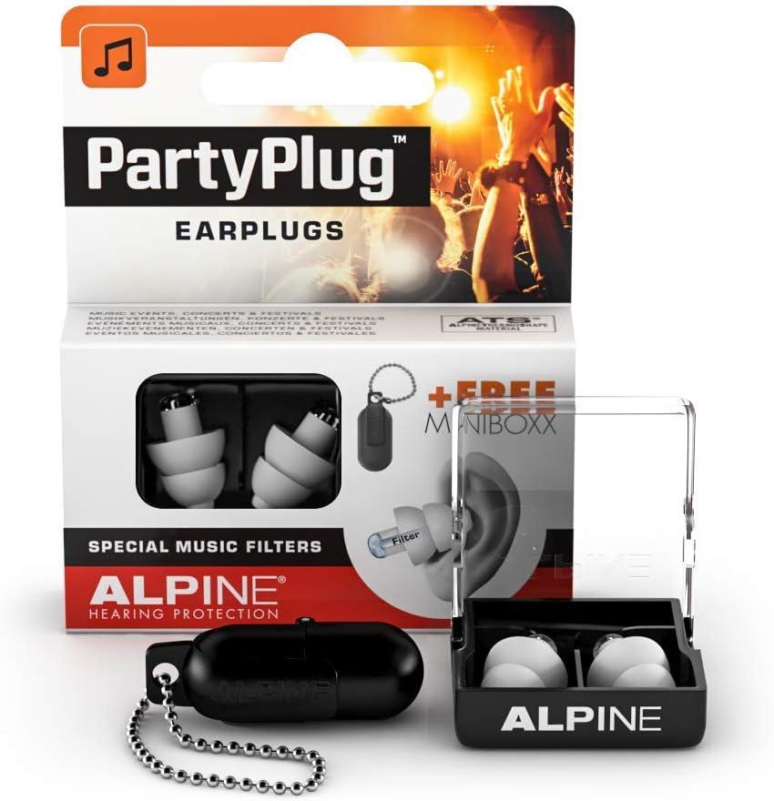 Alpine PartyPlug Tapones para los oídos para Fiestas, festivales de música y conciertos - Gran calidad musical - Cómodo material hipoalergénico + ...