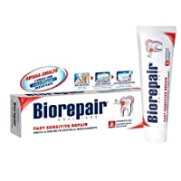 1pc non flouride biorepair fast sensitive toothpaste 75ml repairs damaged tooth enamel and prevents plaque and tartar from forming - helping to prevent decay before it can start. by Biorepair