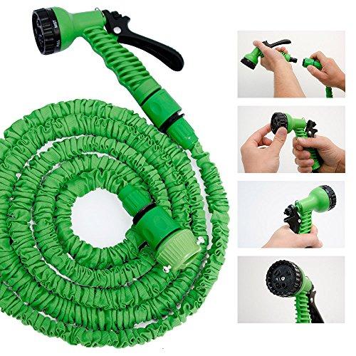 Hochwertiger Gartenschlauch Flexibler Wasserschlauch Schlauch 2,5-7 m inkl 7fach Multifunktions Sprühkopf