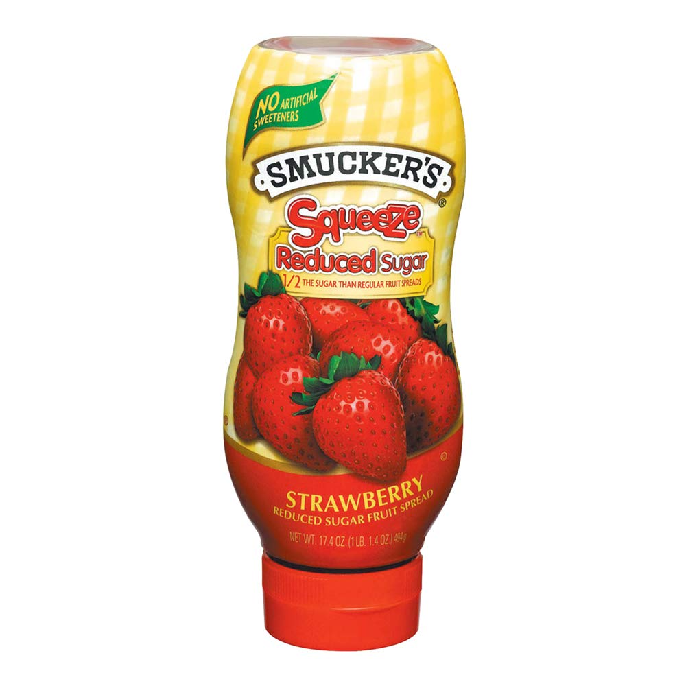 Smucker's Squeeze Reduced Sugar Strawberry Fruit Spread, 17.4 Ounces