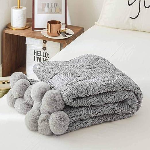 CWDXD Cobijas de Invierno Manta súper,100% algodón Manta sofá Cama ...