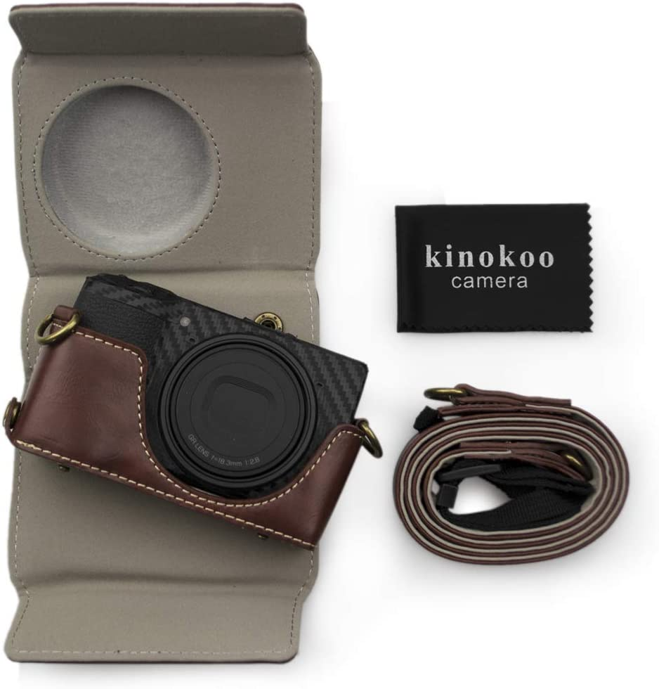 Kinokoo Pu Leder Tasche Für Ricoh Gr Iii Vintage Case Kamera