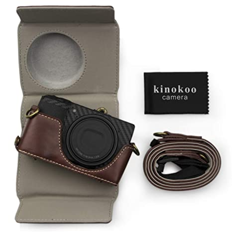 kinokoo PU Leder Tasche für Ricoh GR III Vintage: