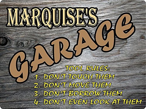 Marquise Design - MARQUISE Garage tool rules wood effect design décor sign 9