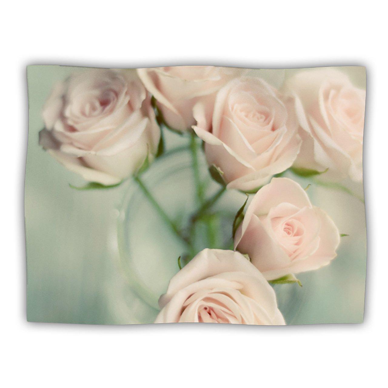 Kess InHouse Cristina Mitchell  Pink Romance  Teal bluesh Pet Blanket, 40 by 30-Inch