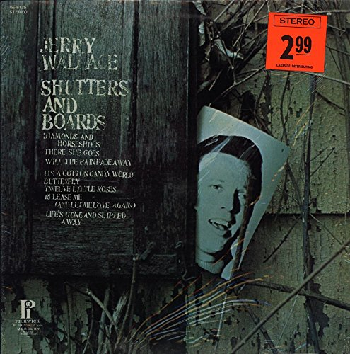 Jerry Wallace - Shutters And Boards - Hilltop - JS-6125 - Canada - Still In Shrinkwrap - Near Mint (NM or M-)/Very Good Plus (VG+) - LP, Comp, (Shutter Wrap)