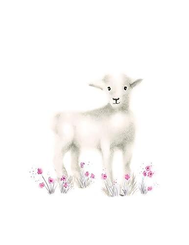 Sheep Print Kitchen Decor Sheep Woodland Nursery Baby Shower Gift Lamb Fixer Upper Nursery Decor Baby Shower Baby Gift Sheep Art