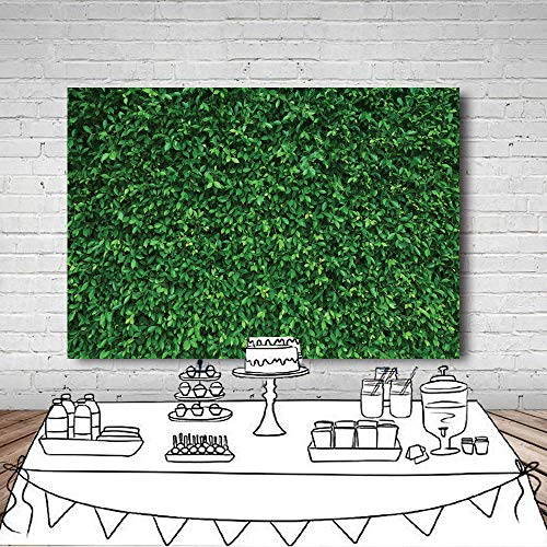 LYWYGG 7x5FT Green Leaves Photography Backdrops Mmicrofiber Nature Backdrop Birthday Background for Birthday Party Seamless Photo Booth Prop Backdrop CP-87 by LYWYGG (Image #5)