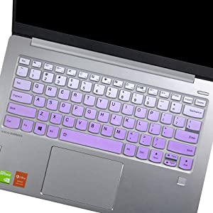 "Lenovo Yoga C930 C940 13.9"" Keyboard Cover for Yoga C940 C740 14"", Lenovo Yoga 930 920 13.9""/ Lenovo Yoga 730 720 720S 13.3""/ Lenovo Yoga 730 15.6""/ Lenovo Flex 14 14"" Keyboard Skin, Ombre Purple"