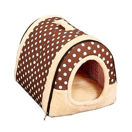 Cama para Mascotas Perro Grande Casa de Perro Invierno Mantener Caliente Lavable Four Seasons Dog Kennel
