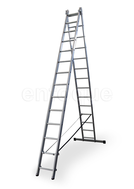 ALTIPESA Escalera Profesional de Aluminio transformable Apoyo-Tijera con Base un Acceso 2 x 7 pelda/ños Serie bis