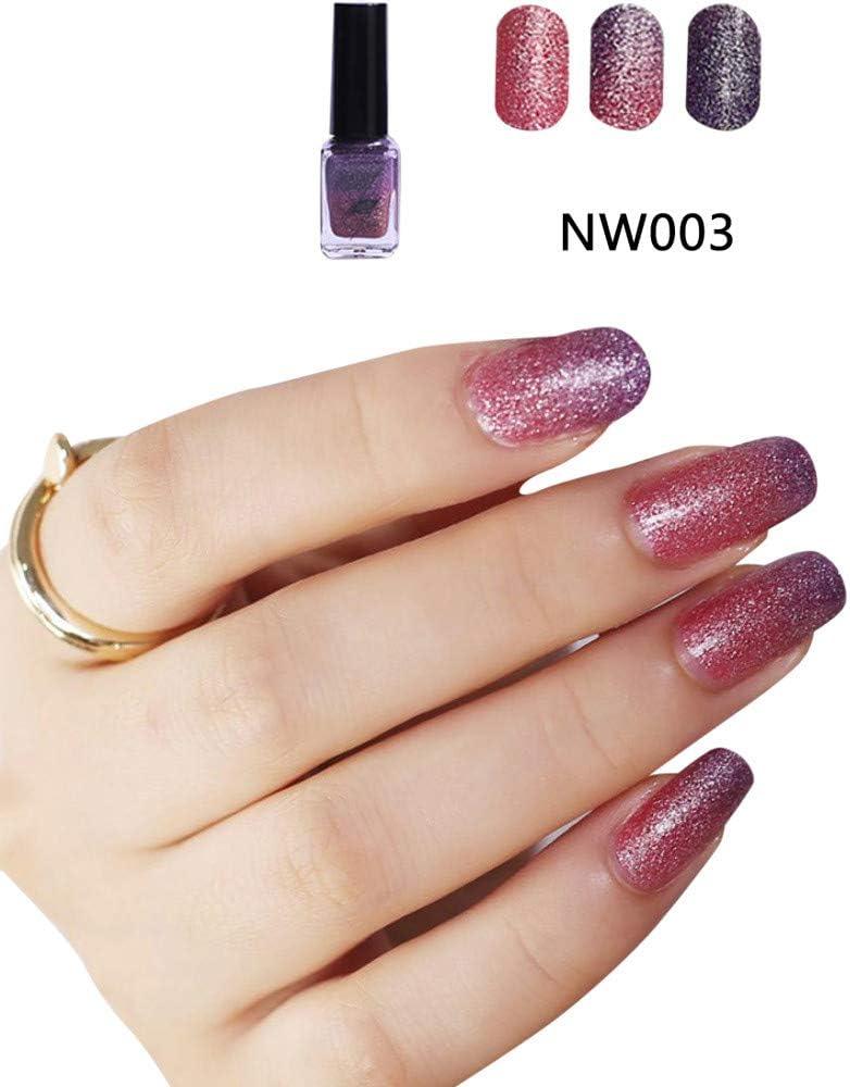 ❀Higlles - Esmalte de uñas de gel semipermanente con purpurina, color burdeos, secado con lámpara UV y LED, para manicura clásica: Amazon.es: Belleza