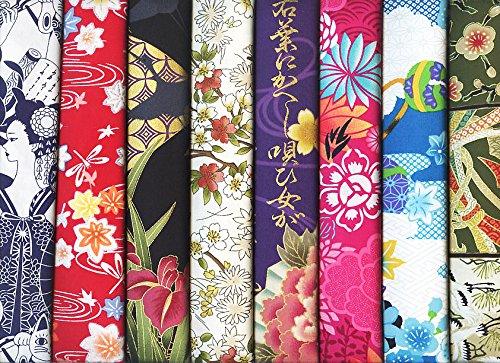 8 Kimono Style Asian Japanese Fat Quarter Bundle III (2 Yards (Asian Fabric)