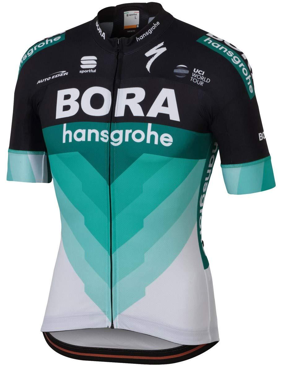自転車ウェア 2018 Bora Hansgrohe Sサイズ 半袖ジャージ Bodyfit Team   B07BCGLR6J