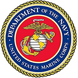1 Pc Super Popular United States Marine Corps Navy Stickers Sign Doors Home Windows Size 5 x 5