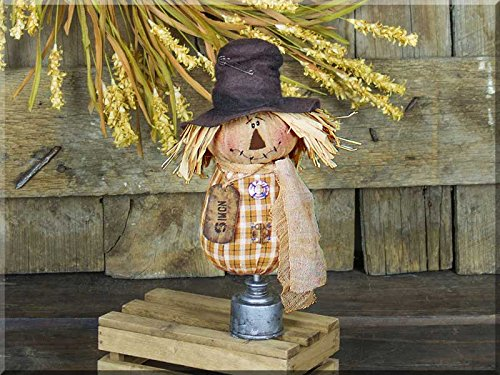 Honey In Me Simon Salvage Scarecrow on Oil Can Spindle