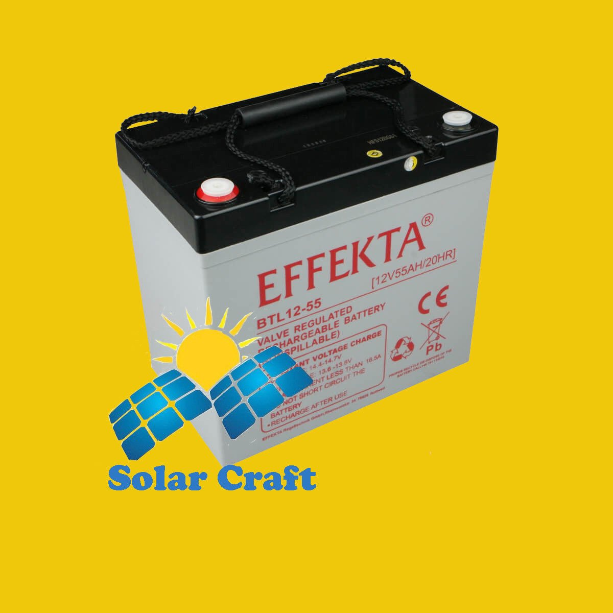 EFFEKTA Pile Batterie 55 ah WT-SG55 elektromoeur Charge Panneau solaire PV